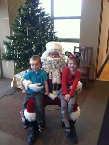 Lizzie & Liam with Santa