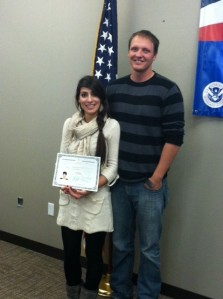 Congratulations to our newest United States Citizen!